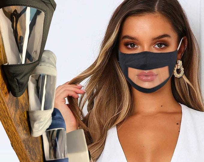 Unisex Adult Transparent Face Mask