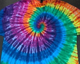 Rainbow Spiral Tiedye Adult Tee