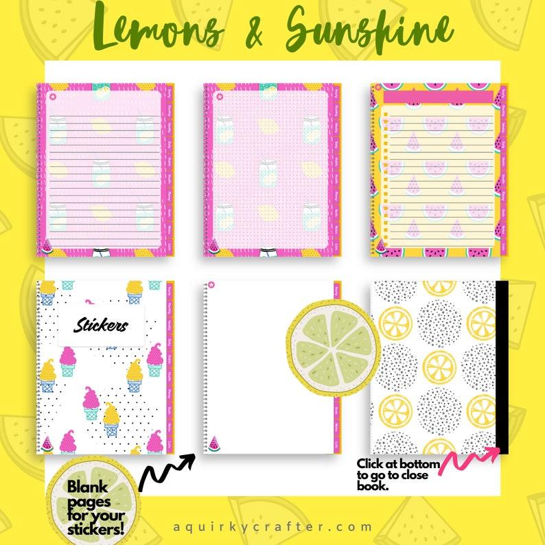 Lemon and Sunshine Undated Digital Planner