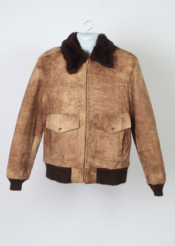 Vintage bomber flight jacket