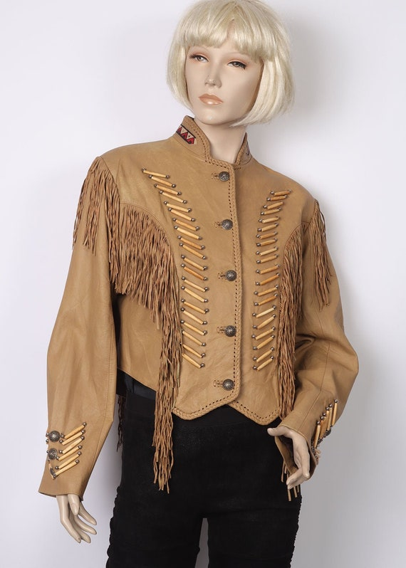 Incredible Wild West Leather Jacket 12-14