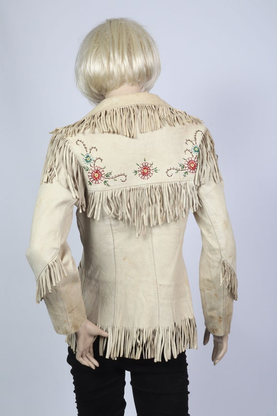 1950's Embroidered fringed leather Western Jacket