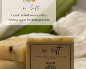 SO SOFT Handmade All Natural Artisan Soap, Soap Bar, Aloe Vera, Calendula, Moisturizing Soap, GMO Free Soap Bar, Vegetable Oil Blends.