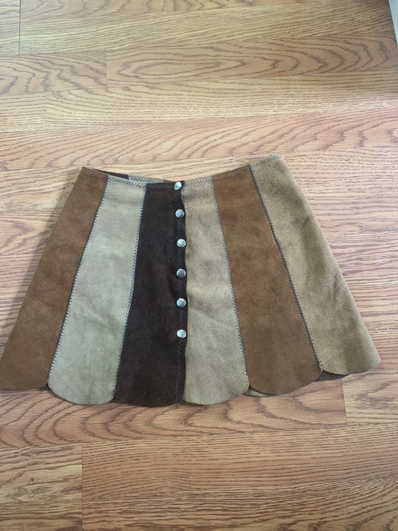 60s Suede Mini Skirt