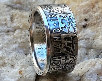 3752 German Ring Silver German Ring Sterling Silver