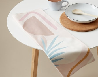 PRE-ORDER Zoella x Etsy Tea Towel Ava . 100% Cotton Kitchen Towel Made in the UK. Minimal Abstract Design