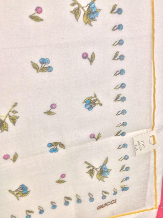 Vintage 70s Gucci Cotton Handkerchief - image 6