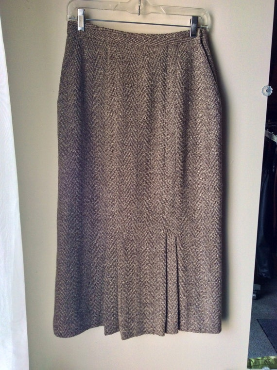 Vintage 80s Christian Dior Midi Skirt