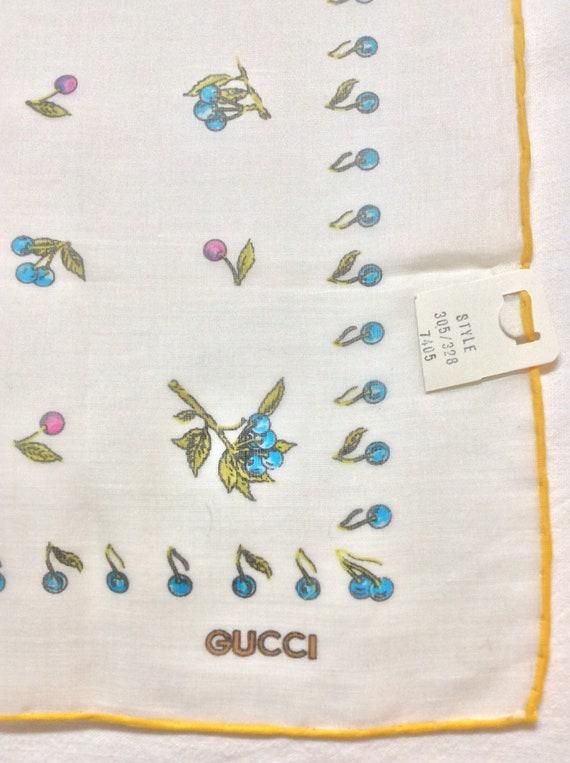 Vintage 70s Gucci Cotton Handkerchief - image 1