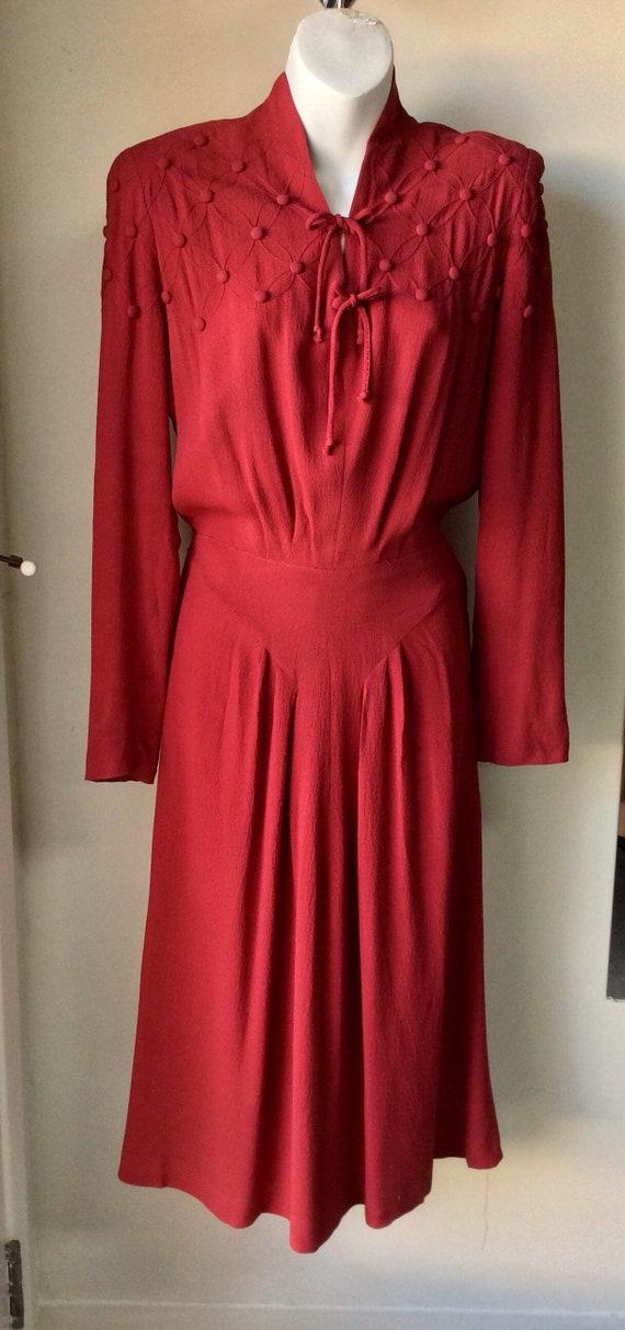 Vintage 30s Red Dress