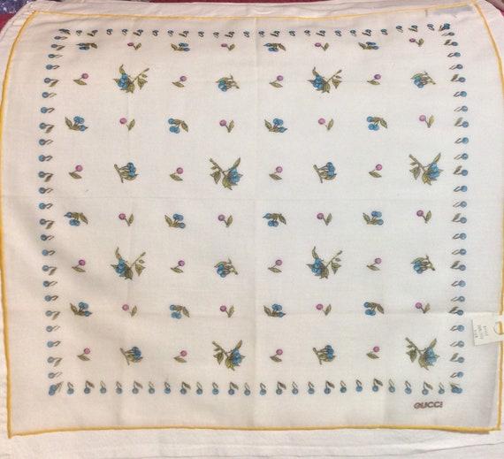 Vintage 70s Gucci Cotton Handkerchief - image 3