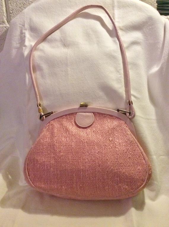 50s 60s Roger Van S Pink Handbag