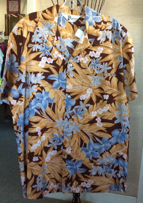 Vtg 70s Lauhala Aloha Hawaiian Shirt