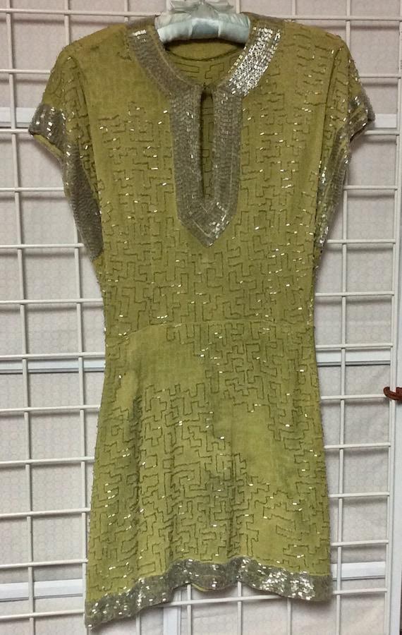 Vintage 30s 40s Beaded Dress