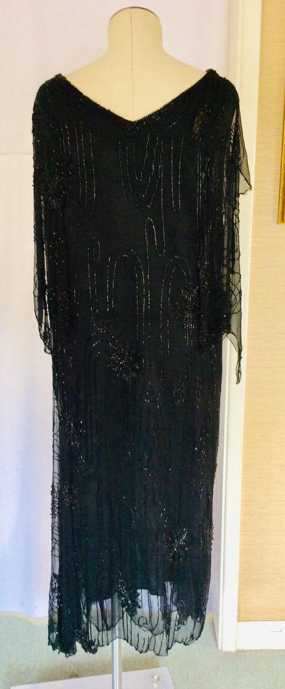 1920s Silk Beaded Art Deco Dress