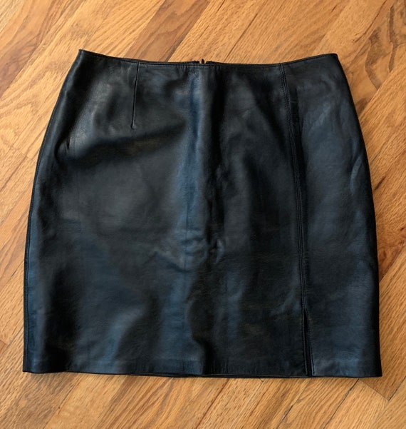 Willi Smith Lamb Leather Skirt