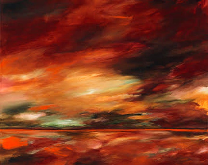 Echo in Red | Archival Print, Contemporary, Abstract Expressionism