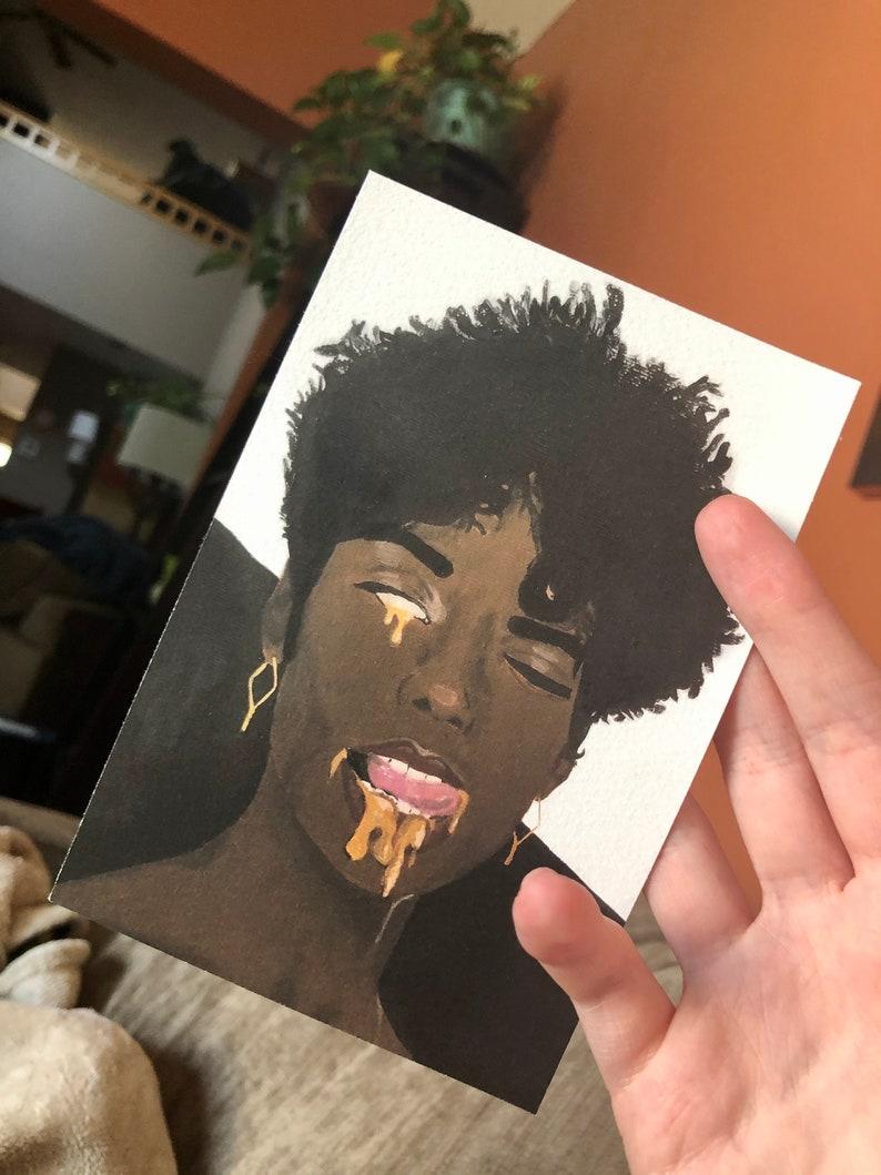 Dripping Gold 4x6 mini print
