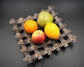 Metal Fruit basket Fruit Tray Wrought Iron Table Bowl Tableware Housewarming gift Black and Golden Blacksmit made 100 handmade