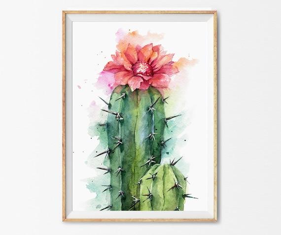 kitchen bridesmaid gift - cactus cactus watercolor Cactus Recipe Cards cacti Physical cacti art southwestern