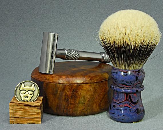 Shaving brush »Leipzig«, handmade from Ebonite