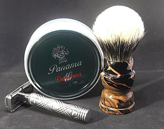 Shaving brush »Madrid«, Handmade, Ebonite, from 77,00 EUR