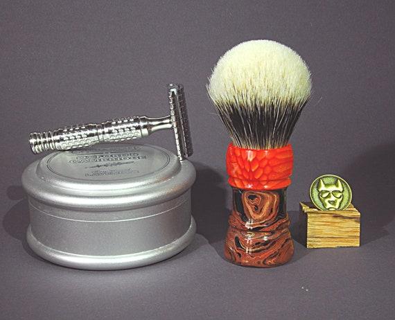 Shaving brush »Koeln«, handmade from Ebonite and red Juma, from 82.00 EUR