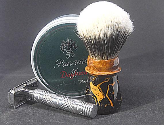 Shaving brush »Koeln«, handmade from Ebonite and Burl Wood, from 82.00 EUR