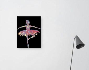colourful ballerina illustration print