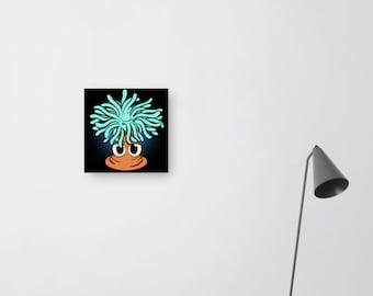 cartoon sea anemone illustration print