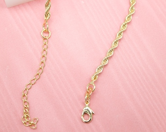 18K Gold Filled Rope Chain For Wholesale Chains & Jewelry Making Supplies (F222-227)(I42)