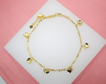 18K Gold Filled Charm Anklet With Elephant shaped Mulit-color CZ Stones For Wholesale Dainty Ankle Bracelet Jewelry Making Supplies