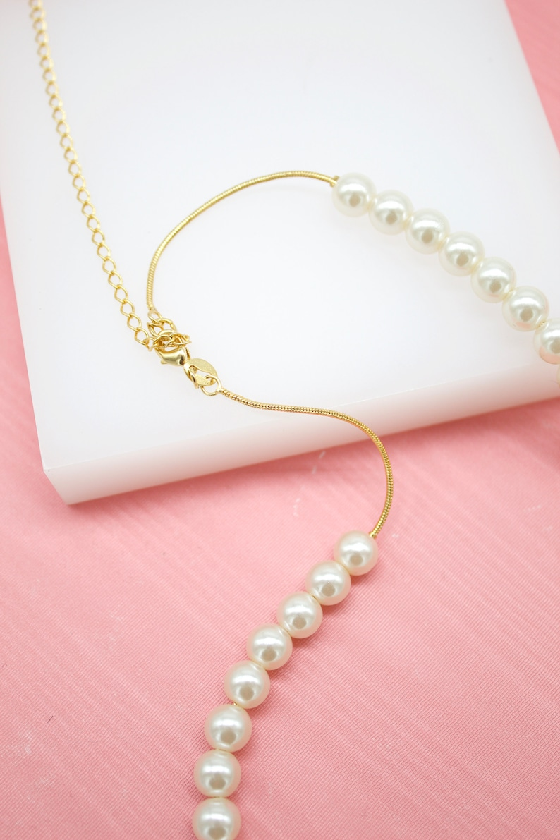 18K Gold Filled Pearl Chain Necklace For Wholesale Chains Jewelry Necklace Making And Findings