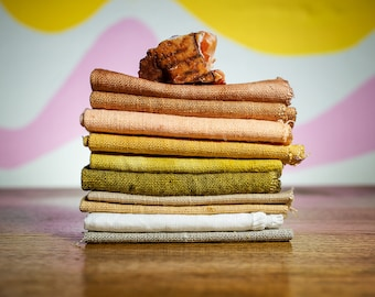 Botanically Dyed Linen By The Yard Swatch Pack