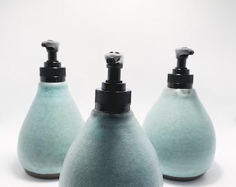 Handthrown Pottery Soap Dispenser / Soap Pump / Great Housewarming Gift