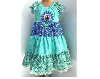 Dress Summer Dress Cotton Dress Swivel Dress Fixed Dress Step Dress Owl