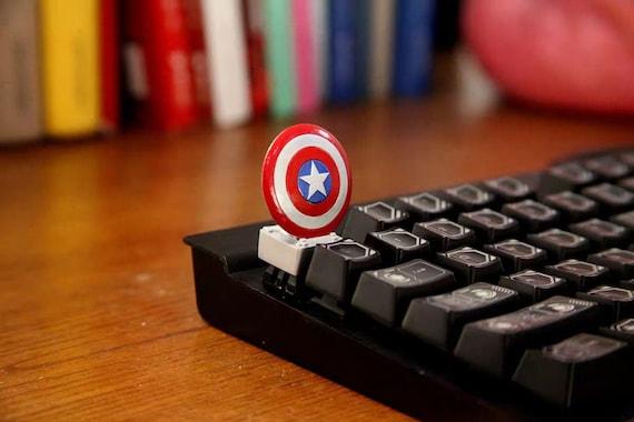 Artisan Keycaps Mechanical Gaming Keyboard Captain America Shield Handmade Keycap