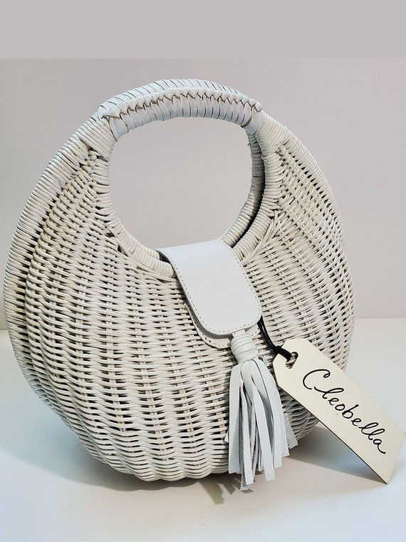 Inspired 70s Cleobella Wicker Bag