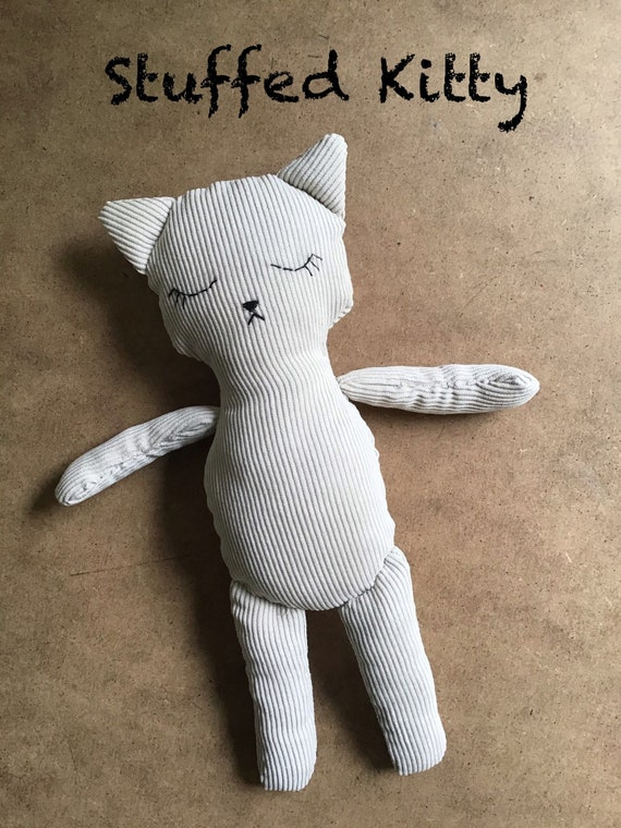 STUFFED CAT TOY | Handmade Kitten Toy | Textile Plush