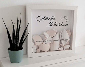 Polterabend Shards for Picture Frames Only Stickers - Our Lucky Shards / Our Polterabend, Memory Gift with Many Designs