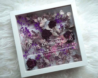 My Bridal Bouquet in Picture Frame - Wedding Reminder Sticker - Personalized Lettering - 2 - Stickers Only!