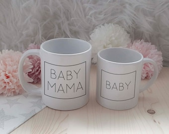 Family Rectangle - Set - PartnerLook - Parents Coffee Cup / Child Baatcup