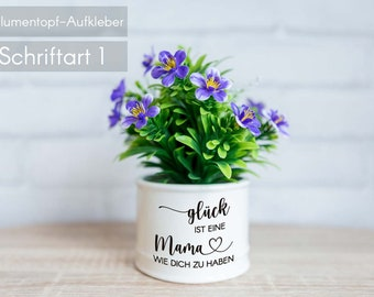 """FlowerPot Happiness – Sticker """"Happiness is a mom like you to have"""" Mother's Day gift, grandma, best friend, boss gift only stickers"""
