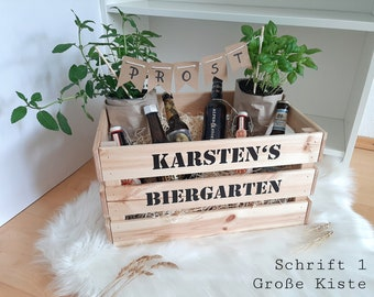 Beer garden / herb garden with name, personalized sticker or wood gift box! DIY Father's Day Mother's Day for self-filling
