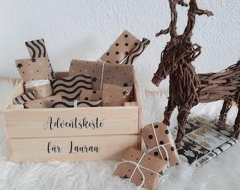 Advent Box Small Stickers, DIY Calendar, Alternative to Advent Calendar, Letterings & Stickers for Advent, Advent Box