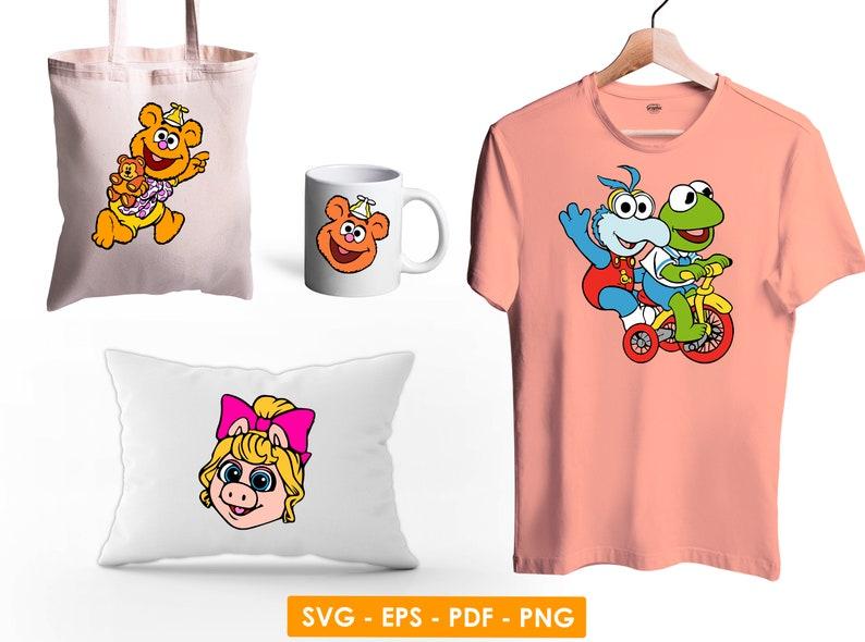 Muppet babies svg,Muppet babies png,Muppet babies clipart,Kermit the frog svg,Kermit the frog png,Miss piggy svg,Miss piggy png