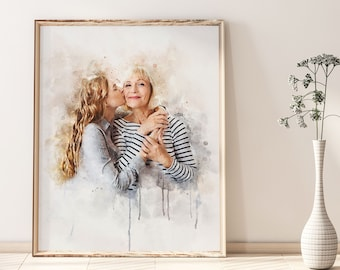 Closing gift Oil painting Custom Home portrait Unique Gift IdeaMothers Day Gift