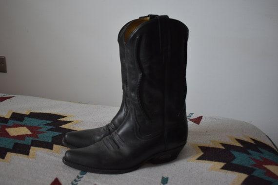Loblan Cowboy Boots UK9 Black