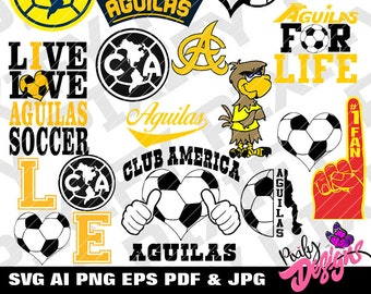 Club America Soccer Etsy