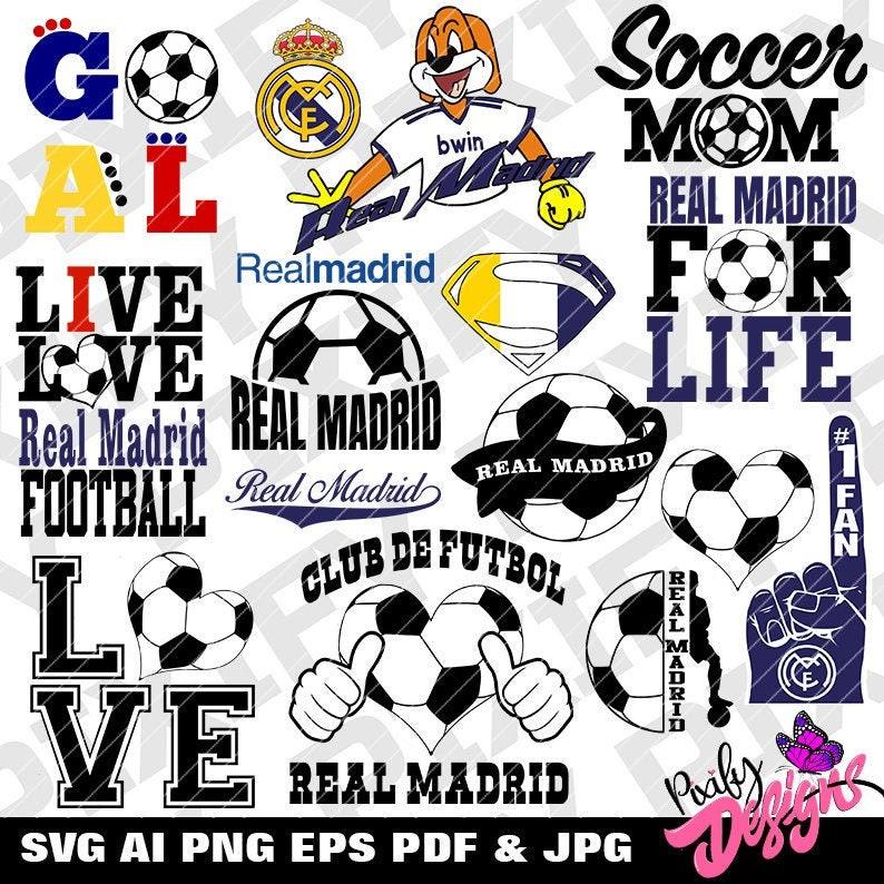 15 Styles Soccer club Real Madrid Club de F\u00fatbol svg Real Madrid Mexican football club Club Futbol Real Madrid svg